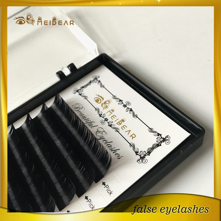 Hand made mink eyelash extensions in korean with package logo deisgn